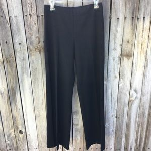 Akris Flat Front Wool Trousers Charcoal Gray 4